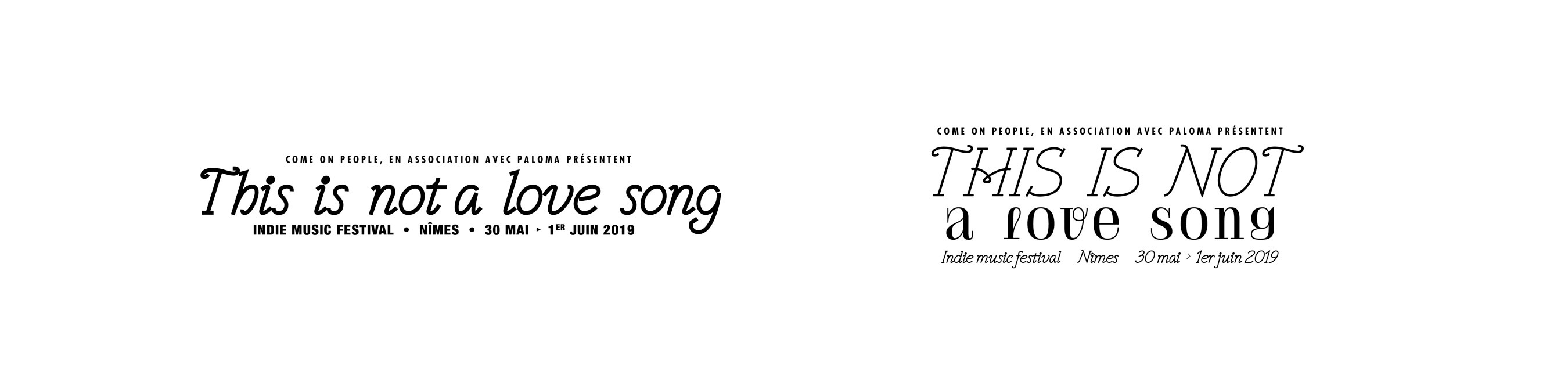 Affiche festival This is not a love song 2019 2