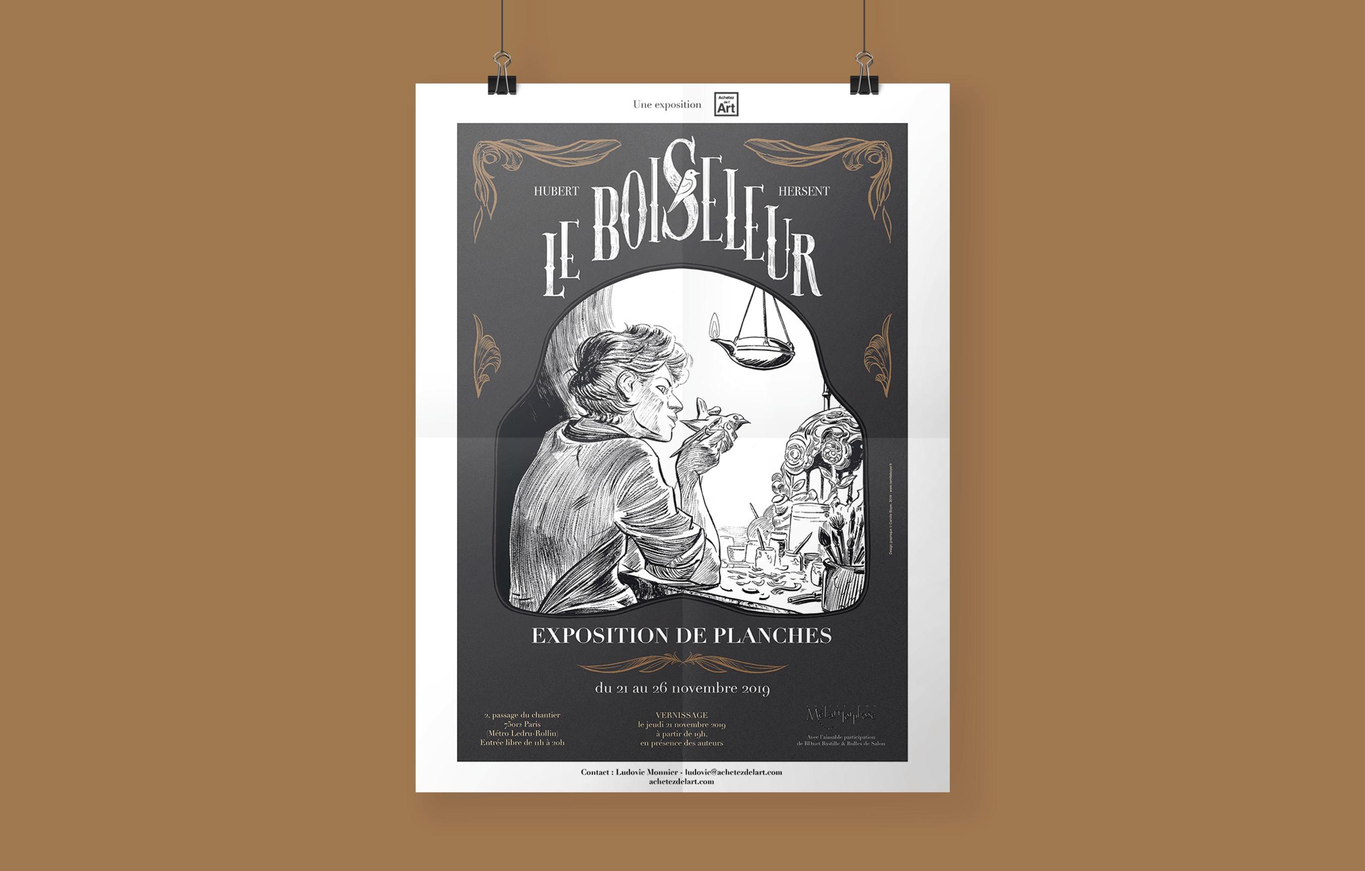 Affiche exposition Le Boiseleur 5